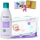 Himalaya Herbals Baby Massage Oil (100ml)+Himalaya Herbals Gentle Baby Wipes (12 Sheets) With Happy Baby Luxurious Kids Soap With Toy (100gm)
