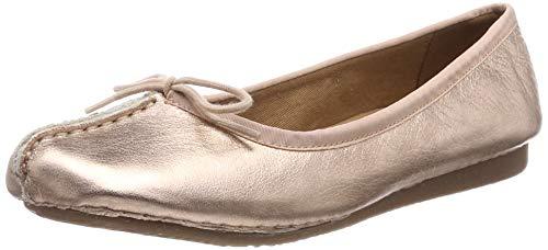 Clarks Damen Freckle Ice Geschlossene Ballerinas, Rose Gold, 41 EU -