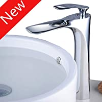 Tall Counter Top Basin Mixer Tap Curved Bathroom Sink Tap Designer Style,Chrome, XY1003CH,XINYU