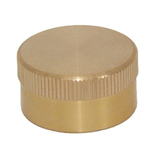MagiDeal Messing Kappe Deckel für 1lb Propangasflasche Gasflasche Campinggasflasche (Cap Cover Gas Deckel)