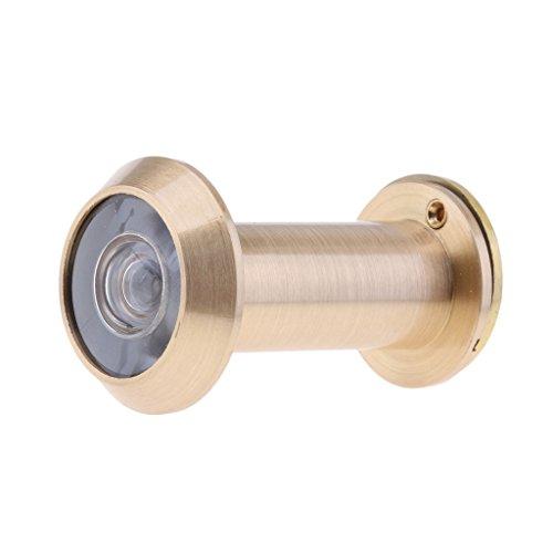 Mirilla De Puerta De 200 ángulos A Prueba De Polvo Con Cubierta De Privacidad Pesada Para 14 Mm - Latón