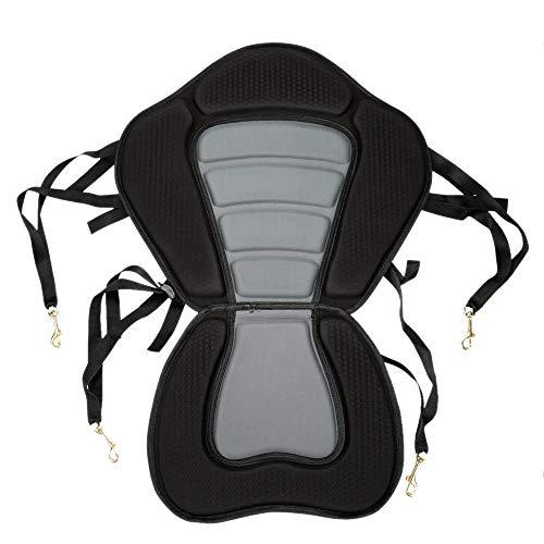 PQZATX Asiento Acolchado para Kayak Base Acolchada Suave Antideslizante para Bote de Remos Respaldo Ajustable con Cojín de Barco