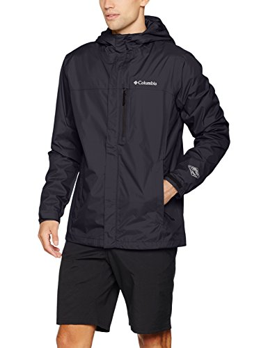 Columbia Pouring Adventure II Jacket – Chaqueta de lluvia para hombre, Hombre, color negro, tamaño medium