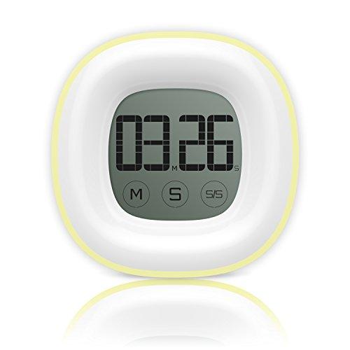 Timer, Helect Digitale Küchenuhr elektronischer Küchentimer mit Berührungsempfindlicher Bildschirm LCD Anzeigen, Lautem Alarm, Magnetische Rückseite