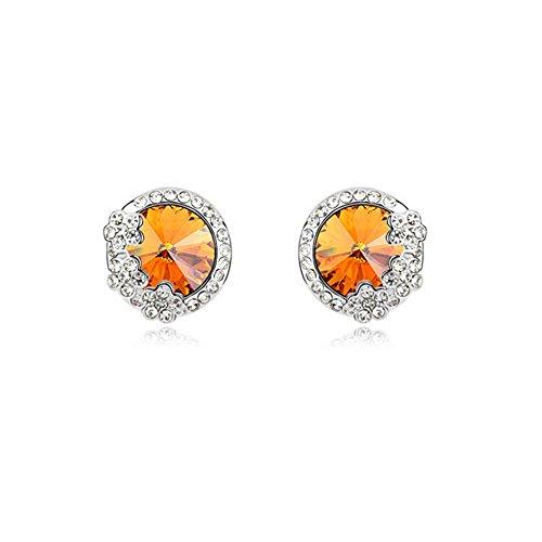 fragancia-de-la-flor-dorados-con-redondo-citrino-color-cristales-de-swarovski-crystal-stud-pendiente