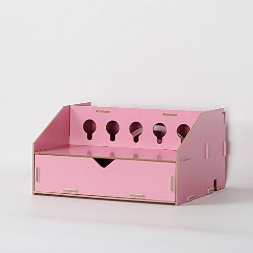 Holz Kabel Tidy Box, Steckdosenleiste Kabel Aufbewahrungsboxen Kabel Aufbewahrungsbox Für Adapter, Kabel, USB Hubs, Router, (Größe: 28,3 * 25 * 15,3 Cm),B