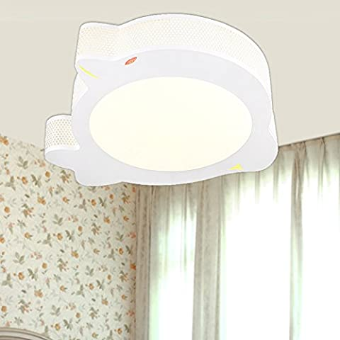MSRRY Stanza dei bambini lampada LED luce da soffitto arte dolphin cartoon lampada camera da letto caldo azzurro polvere lampade in camera , femmina ragazzi nessuna polarità dimming