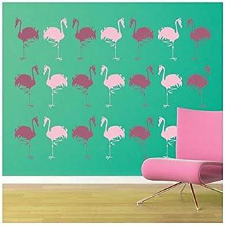 azutura Flamingo Wall Sticker Pack Birds & Feathers Wall Decal Animal Kids Decor Rose Pink
