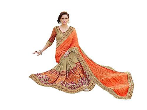 Sareeshop Women's Faux Georgette Saree (Priya_001_Maroon)
