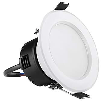 LE Dispositivo di Illuminazione a LED da 3'' ad Incasso 4W, pari alogene 30W Bianca Diurna 6000K