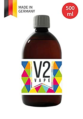 V2 Vape Propylene Glycol PG E-Liquid Base Base 500ml 0.5L Pharma Quality Pure for self-Mixing of e-Liquids 0mg Nicotine-Free by V2 Vape