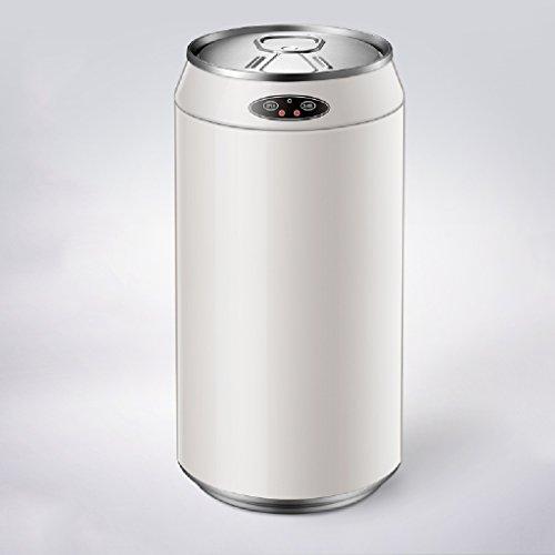 LITINGMEI Refuse Bin Automatische Induktion Abfalleimer Haushalt Wohnzimmer Schlafzimmer Smart Badezimmer Küche Elektrische Rohr 12L (Farbe : Oyster White) White Pedal Bin