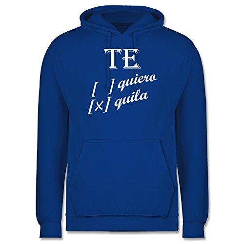 Statement Shirts - Te quiero, Tequila - Männer Premium Kapuzenpullover / Hoodie Royalblau