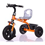 Baybee ERANGEL Tricycle Plug And Play Kids Tricycle Trike With Storage Bin Kid's For 2-5 Years Baby Tricycle Ride On Outdoor | Suitable Babies For Boys & Girls - Orange