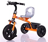 #4: Baybee ERANGEL Tricycle Plug and Play Kids Tricycle Trike with Storage Bin Kid's for 2-5 Years Baby Tricycle Ride on Outdoor | Suitable Babies for Boys & Girls - Orange