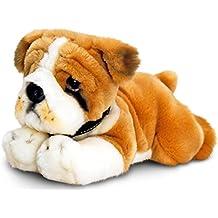 Keel Toys peluche perro bulldog, peluche tumbado aprox.