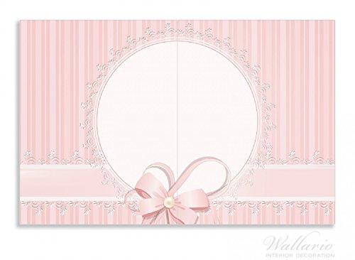 Wallario Herdabdeckplatte / Spritzschutz aus Glas, 2-teilig, 80x52cm, für Ceran- und Induktionsherde, Motiv Geschenkkarte, Bänder, Spitzen und...