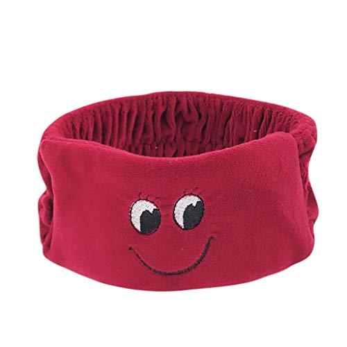 Amphia - Kinder lächelndes Gesicht Twist Knot Stirnband elastische Kopf Wickeln Turban Haarband - Größe: über 13X7,5 cm