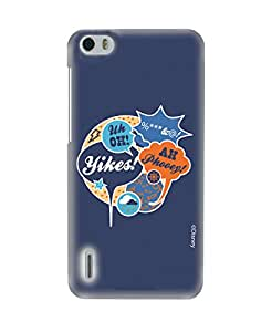 Pick Pattern Back Cover for Huawei Honor 6