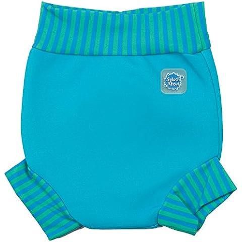 Splash About Happy Nappy - Pañal de natación para niños de 0-4 meses, color turquesa / azul lago