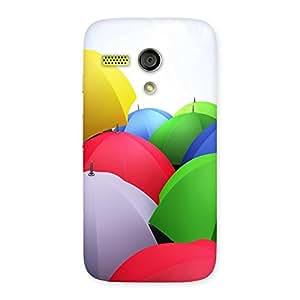 Unicovers Colorful Umbrella Back Case Cover for Moto G