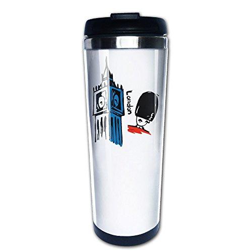 bigkin I Love London Big Ben British Royal Guard Soldier Edelstahl Becher/Kaffee Tasse Thermos & Isolierflasche