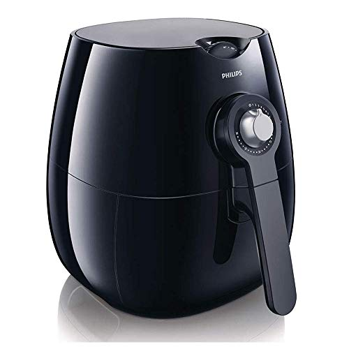 An image of the Philips Air Fryer with Rapid Air Technology for Healthy Cooking, Baking and Grilling, Plastic,1425 W, Black, HD9220/20