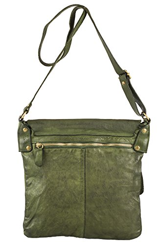ZETA SHOES Borsa tracolla in vera pelle made in italy vintage MainApps Verde