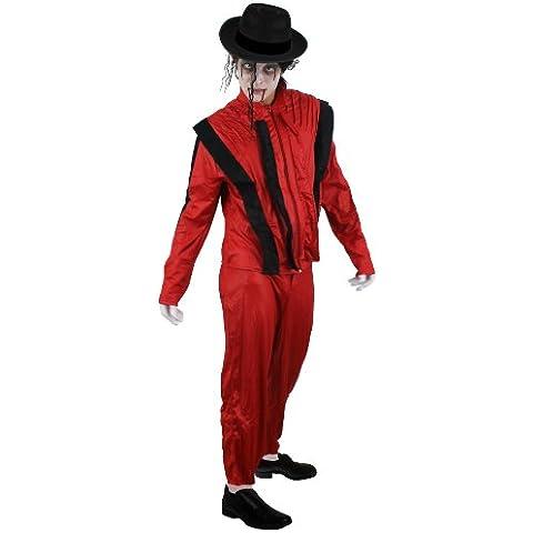 ILOVEFANCYDRESS - Disfraz de Michael Jackson zombie para adulto (talla S - XL)