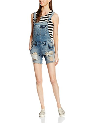 ONLY Damen Jeanshose Onlnew Kim Witty Dnmoverallshorts RE1052, Blau (Medium Blue Denim), 40