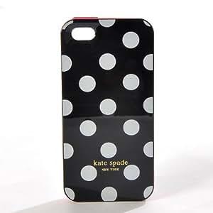 Kate Spade Coque Rigide Etui Housse de Protection pour iPhone 5 Noir Motif Polka Dots