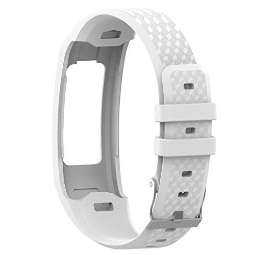 armin Vivofit 1 Vivofit 2 Smart Watch Sport Silikon Armband Schnalle Ersatzband Band (Weiß) ()