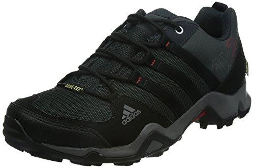 adidas AX2 GTX, Scarpe da escursionismo e trekking uomo, Nero (Schwarz (Dark Shale/Black 1/Light Scarlet)), 44