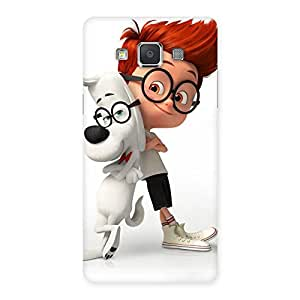Special Boy and Spec Dog Multicolor Back Case Cover for Galaxy Grand Max
