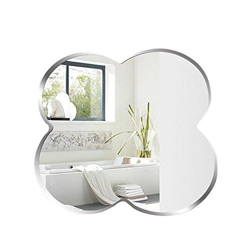 Specchio Bagno A Farfalla.Bathroom Mirror Specchio Da Bagno Specchio Da Parete Semplice Senza Cornice Specchio A Farfalla 5mm Ad Alta Definizione Con Smusso Da 59 Cm