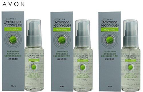 3 x Avon Advance Techniques Daily Shine Sérum Pointes Sèches 30ml