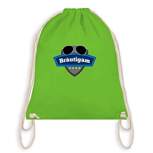 JGA Junggesellenabschied - Bräutigam Police - Turnbeutel I Gym Bag Hellgrün