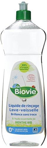 Biovie Liquide de Rinçage pour Lave-Vaisselle à l'Huile Essentielle de Menthe Bio 750 ml - Lot de 2