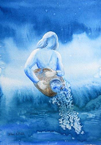 silwi-art***** Geburtstagskarte Künstlerkarte Sternzeichen Wassermann Karte Bild und Wanddeko - Geburtstag Wassermann Karte