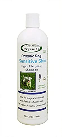 Mad About Organics All Natural Dog Puppy Sensitive Skin Shampoo Concentrate 16oz by Mad About Organics