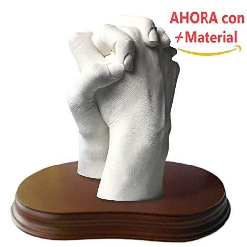 Escultura de manos en 3D 2 Manos Con Peana