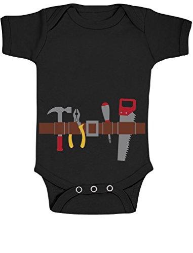 Handwerker Baby Karneval und Halloween Kostüm Baby Body Kurzarm-Body 81/86 (12-18M) Schwarz