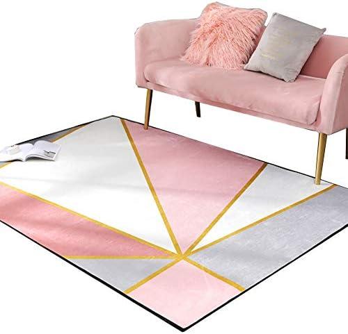 BSNOWF- Soggiorno Tappeto Tappeto Stile Nordico per Soggiorno BSNOWF- tavolino Camera da Letto Comodino, Geometrico Semplice Moderno rosa Carino, Misura Opzionale (Dimensioni   120×160cm) dd4d12