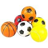 Spielzeug Ballspiel Stoffball Mini Baketball Geräusch Buntes Fußball mit 6 Bällen Geschenk für Kinder