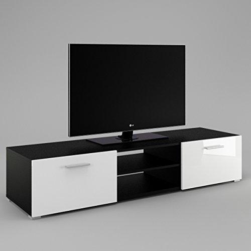 luna-armoire-basse-meuble-tv-le-corps-noir-mat-le-front-blanc-haute-brillance