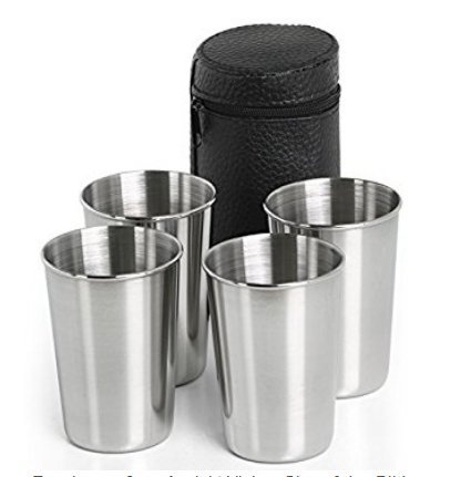 Dabbie Outdoor equipment climbing hiking travel portable stainless steel 4-piece sets of cups