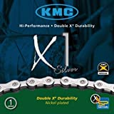 KMC Fahrrad Kette KMC X1 silber 1/2 x 3/32 110 Glieder Nabenschaltung Rohloff, 300800
