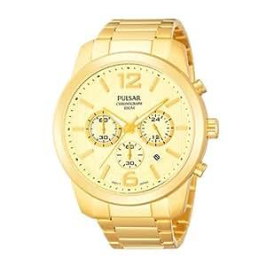 PULSAR - Montre PULSAR urban chrono bracelet acier doré homme