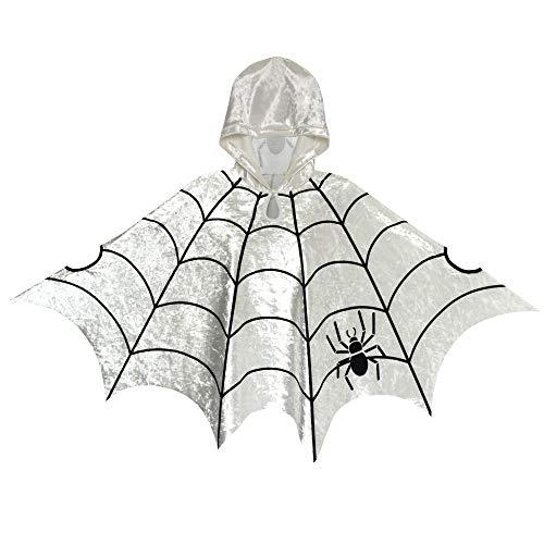 Sunboree Halloween Kap Samt Mit Kapuze Mantel Spinne Kostüme Cosplay Gr. 98-104 (Cosplay Kostüm 101)