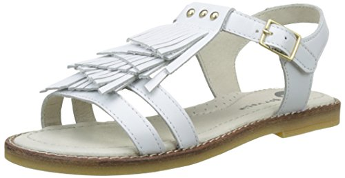 Garvalin Newlyn, Sandales Bout Ouvert Fille Blanc (Blanco)